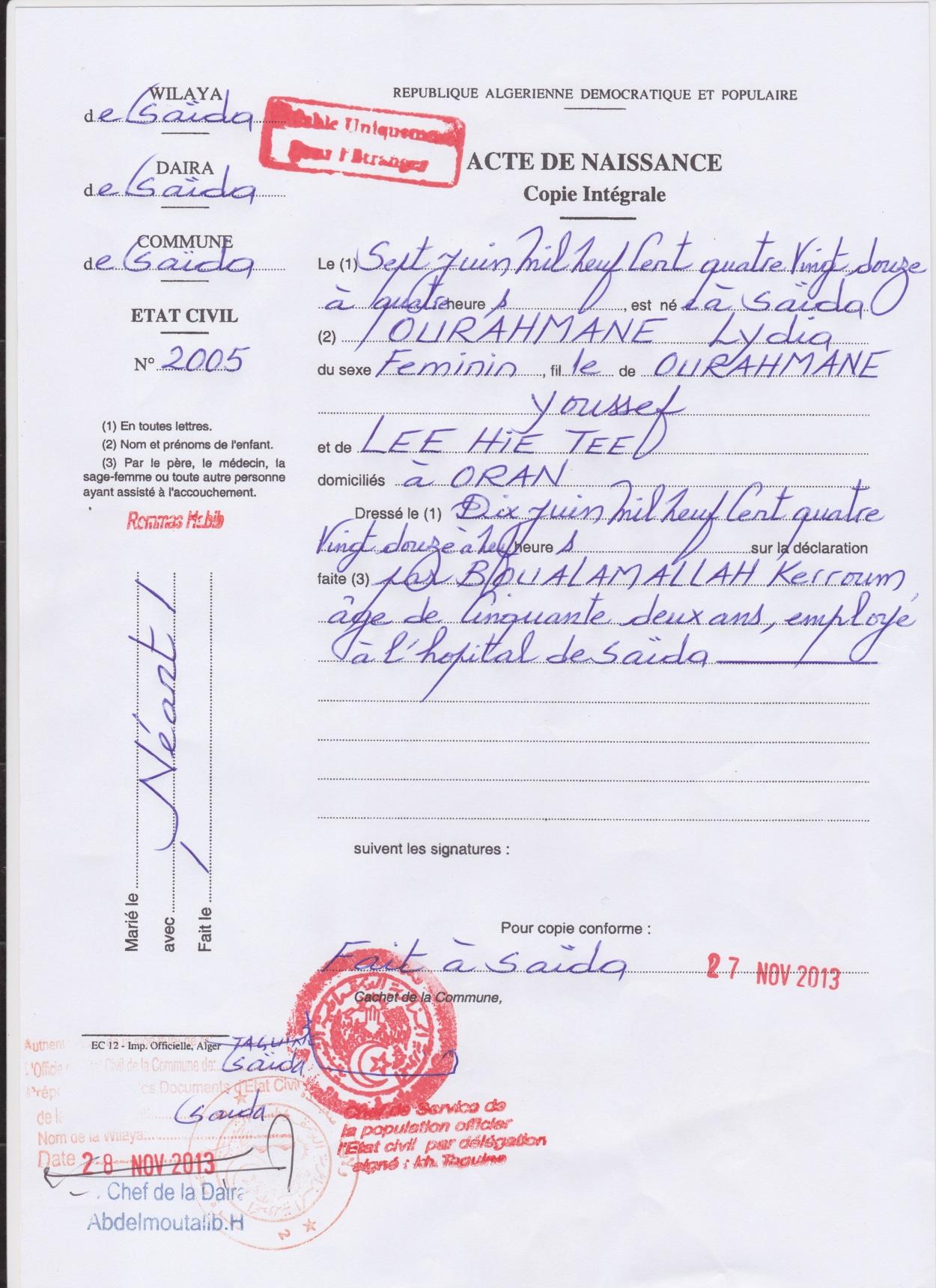 Droit Du Sang (Blood Right) - lydiaourahmane com - Personal